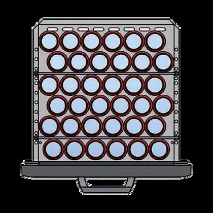 Flexbar 54 segmenten, per lade: 36 x 33 cl