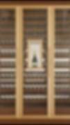 Vinoloq V-line wijnklimaatkastTHREE DOORS CABINET    3 temperature zones  with one magnum compartment  w 2335 x h 2780 x d 685 mm