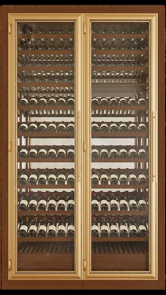 Vinoloq V-line wijnklimaatkast TWO DOORS CABINET    2and 3 temperature zones  withoutmagnum cabinets  w 1595 x h 2780 x d 685mm