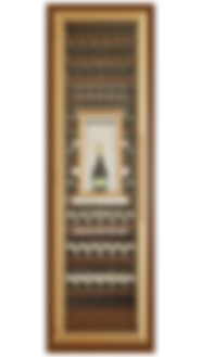 Vinoloq V-line wijnklimaatkast ONE DOOR CABINET    1 and 2 temperature zones  magnum compartment  w 860 x h 2780 x d 685 mm