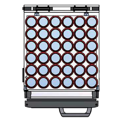 Flexbar 41 segmenten, per plateau: 36 x 33 cl