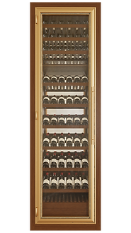 Vinoloq V-line wijnklimaatkast ONE DOOR CABINET  ​  1 and 2 temperature zones  without magnum compartment  w 860 x h 2780 x d 685 mm