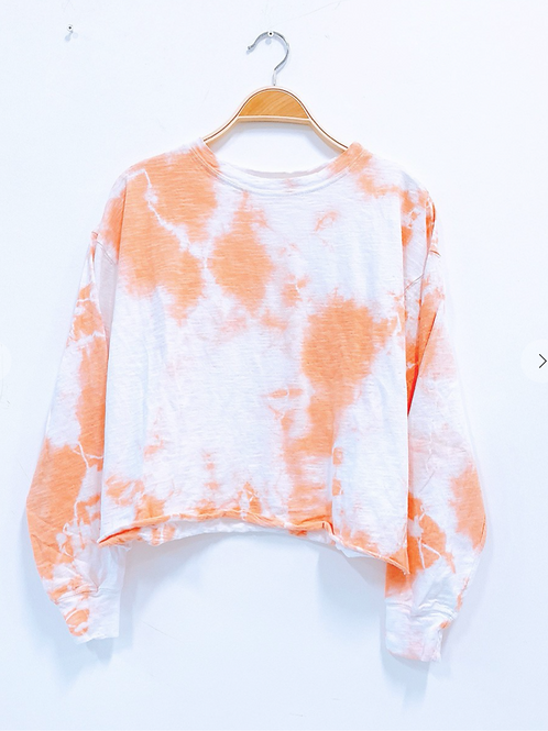 Tie-Dyed Cotton Pullover