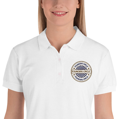 FC-Embroidered Women's Polo Shirt