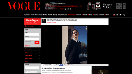 Photo Publication on Vogue.it