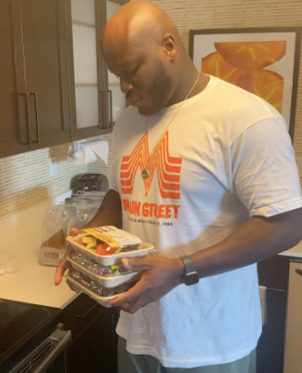 Derrick Lewis likes to spit on his steak....