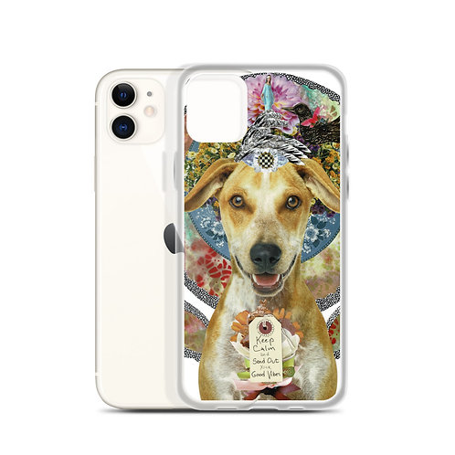 """Claudia Lambdin/AhjnaeCollage """"Keep Calm&Send out Your Good Vibes"""" (iPhone Case)"""