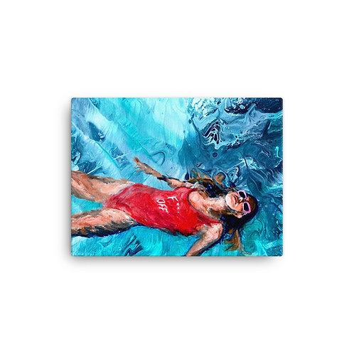 "Angela Lubinecky ""Free Floating"" (Canvas Giclee)"