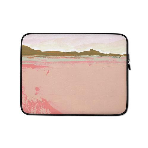 """Angela Seear """"Pink Fields"""" (Laptop Case)"""