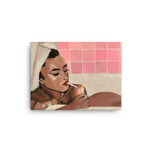 "Sabrina Cabada ""Bath Time"" (Canvas Giclee)"