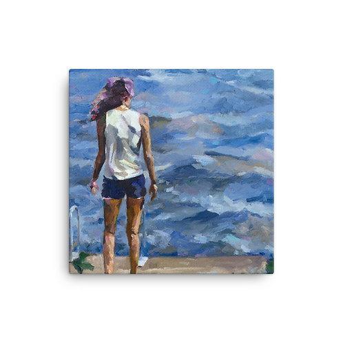 "Jennifer Lynn Beaudet ""Leah's Lake"" (16""x16"" Canvas Giclee)"