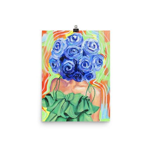 Flower Head (Blue) by Anna Douglas Smith