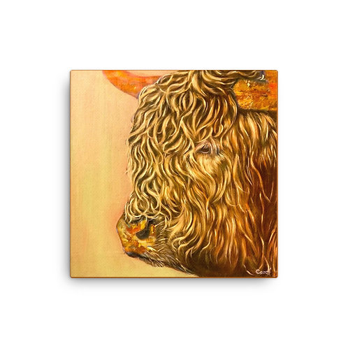 "Big Bull (16""x16"" Canvas Giclee) by Carol Greenwood"