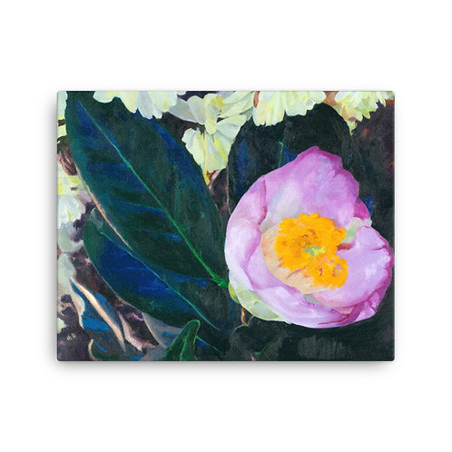 "Jennifer Lynn Beaudet ""Pink Camelia"" (Canvas Giclee)"
