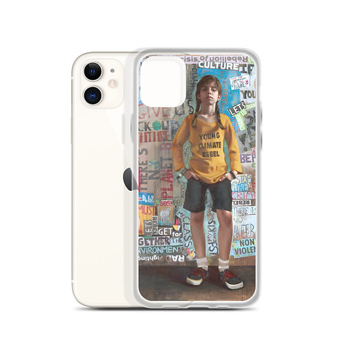 "Rosso Emerald Crimson ""YOUNG CLIMATE REBEL"" (iPhone Case)"