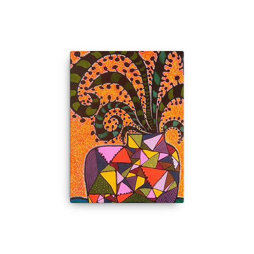 """Potted Succulent (12""""x16"""" Canvas Giclee) by Sandra Perez-Ramos"""