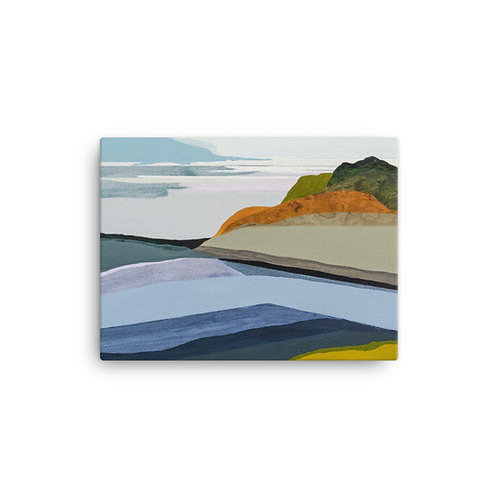 "Angela Seear ""Blue Rocks"" (Canvas Giclee)"