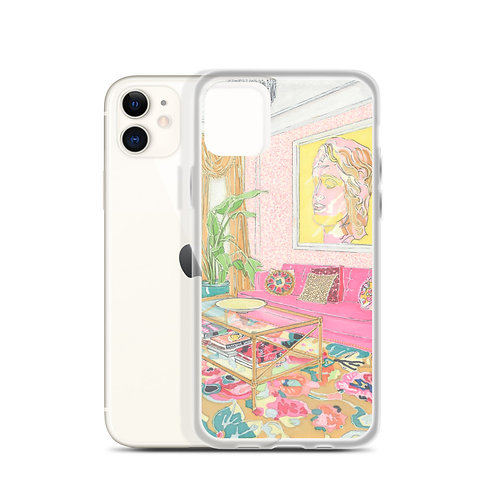 Pink Sofa (iPhone Case) by Deirdre McCormick