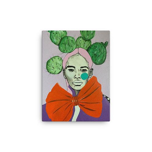 """Ana Sneeringer """"Orange Bow"""" (Canvas Giclee)"""