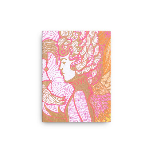 Pink and Gold Lady (Canvas Giclee) by Karla Gallagher