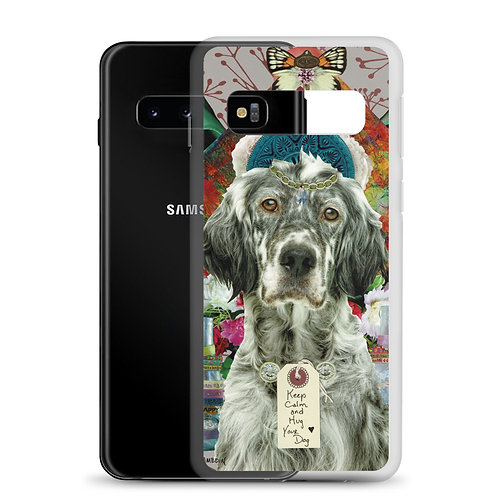 Keep Calm and Hug Your Dog (Samsung Case) by Claudia Lambdin/AhjnaeCollage
