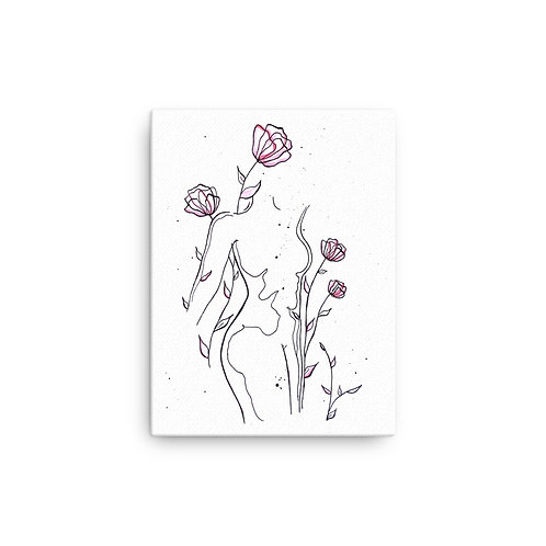"Grace You ""Spring in Rose"" (Canvas Giclee)"