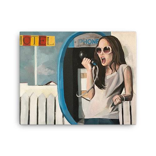 "Sandra Cabada ""Payphone"" (Canvas Giclee)"