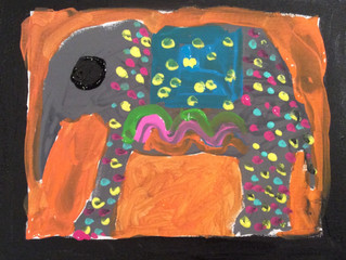 Painted elephants of India