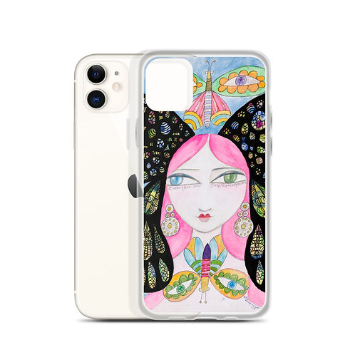 Butterfly Girl (iPhone Case) by Jennifer Betlazar