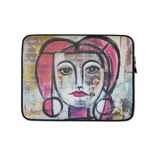Homage to Picasso (Laptop Case) by Carol Greenwood