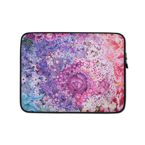 Rainbow in Bloom 2 (Laptop Case) by Rachel Newell