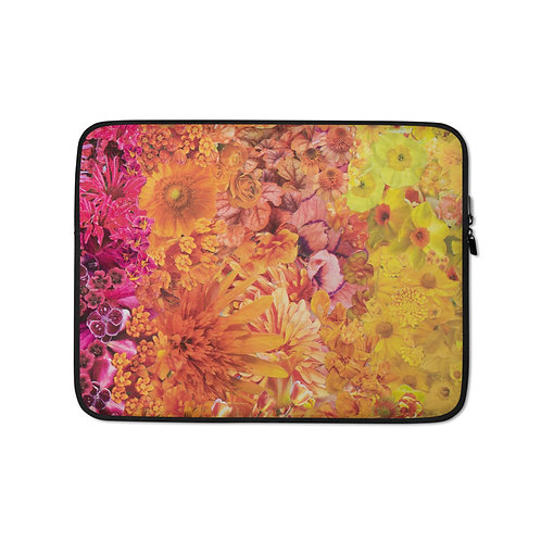 "Rachel Newell ""Rainbow in Bloom 3"" (Laptop Case)"