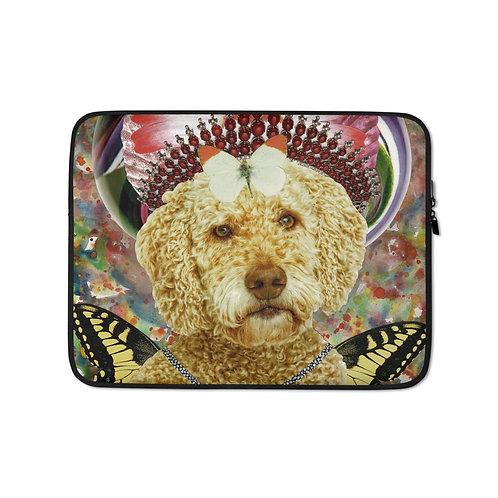 "Claudia Lambdin/Ahjna Collage ""Goldendoodle"" (Laptop Case)"