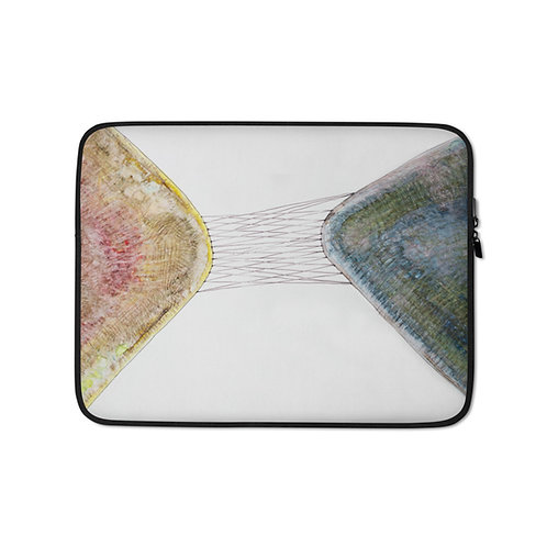 Connexion (Laptop Sleeve) by Emmanuelle Gaudillat