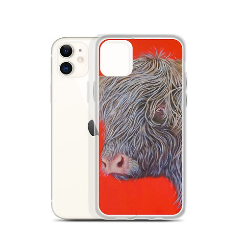 Big Red Cow (iPhone Case) by Carol Greenwood
