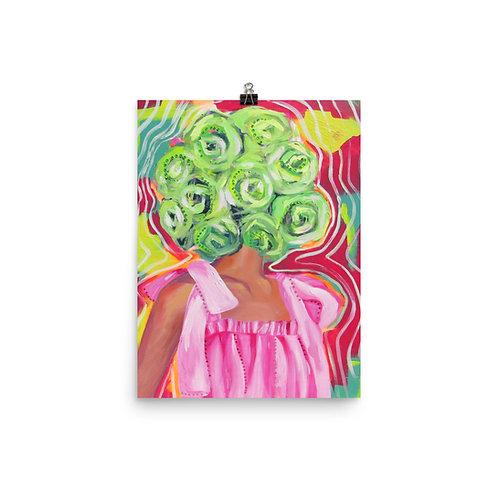 "Anna Douglas Smith ""Flowerhead (Green)"""