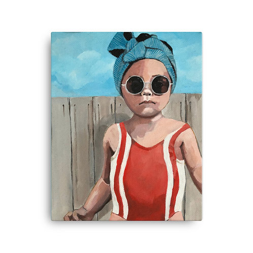 "Sandra Cabada ""Swim Baby"" (Canvas Giclee)"