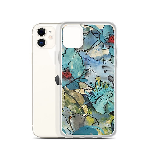Blue Floral (iPhone Case) by Ana dos Santos