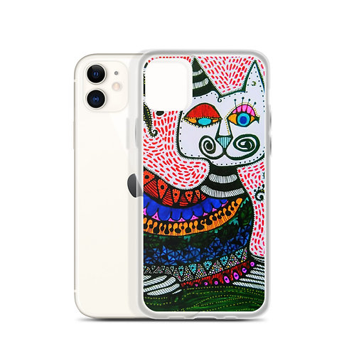 Gato Loco (iPhone Case) by Sandra Perez-Ramos