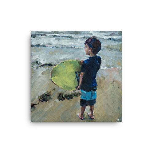 """Jennifer Lynn Beaudet """"Surf"""" (16""""x16"""" Canvas Giclee)"""