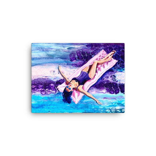 """Angela Lubinecky """"Floating on a Pink Cloud"""" (Canvas Giclee)"""