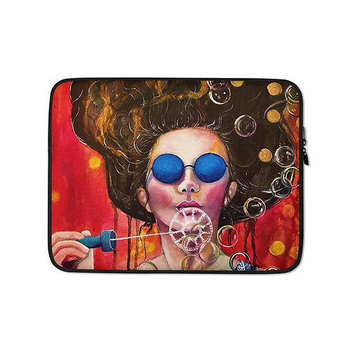 "Lola Burgos ""The Girl of the Invisible Pearls"" (Laptop Case)"