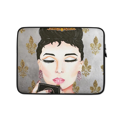 Chanel and Audrey (Laptop Case) by Coco Martin