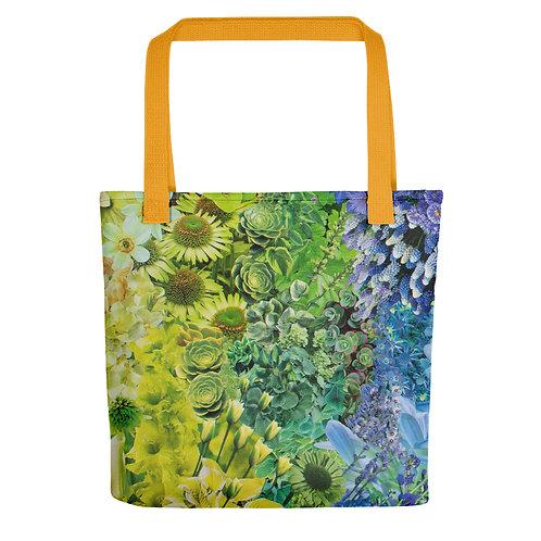 "Rachel Newell ""Rainbow in Bloom I"" (Tote bag)"