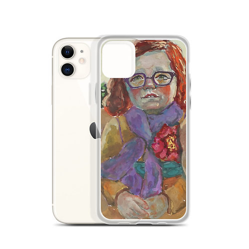 Goober on Bench (iPhone Case) by Kathy Shorkey