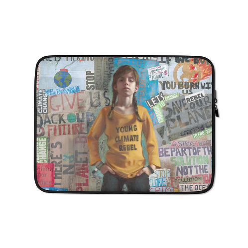 """Rosso Emerald Crimson """"YOUNG CLIMATE REBEL"""" (Laptop Case)"""