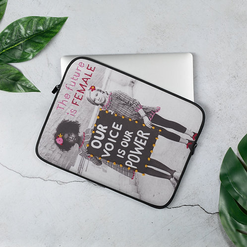 The Future is Female (Laptop Case) by Elise Benetreau