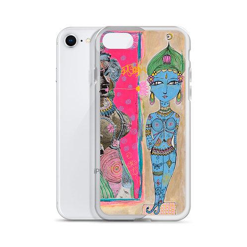 Blue Krishna (iPhone Case) by Jennifer Betlazar