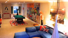 FUN eclectic basement
