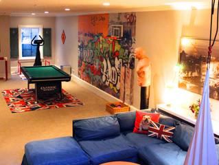 FUN eclectic basement